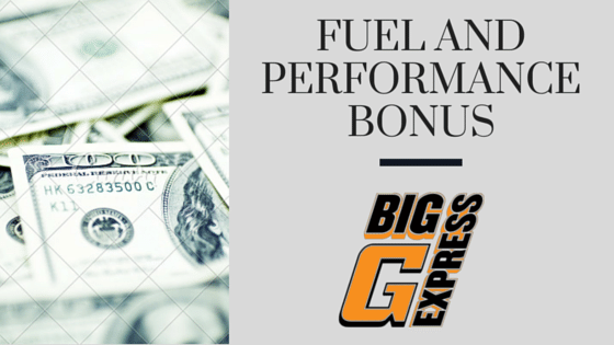 Fuel and Performance Bonus for OTR Drivers