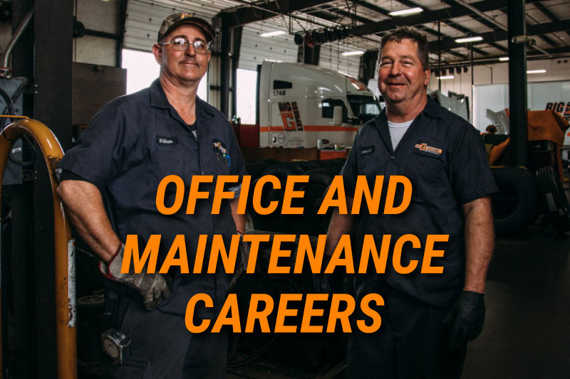 office, maintenance, careers, big g express